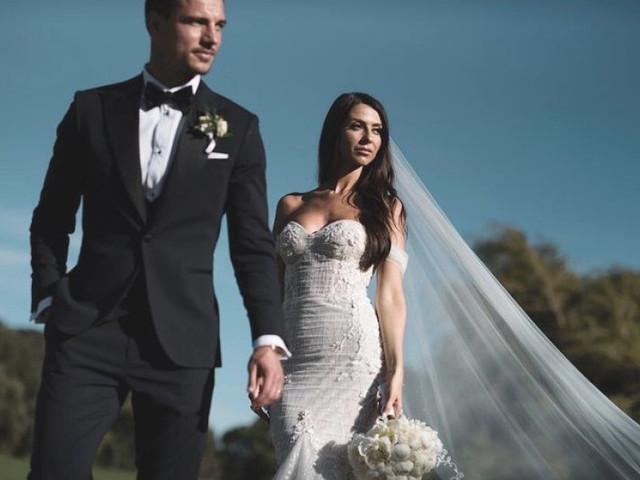 Cédric Soares e Filipa Brandão estão oficialmente casados!