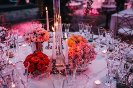Propostas de decoração para mesas redondas