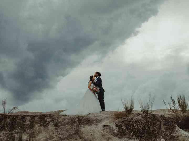 O casamento da Dina e do Hélio: uma união abençoada pela tempestade Leslie