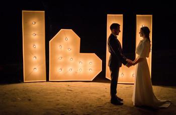 Letras XL para a decoração do teu casamento: Inspira-te com 15 imagens