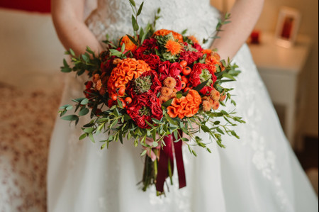 És fã do cor de laranja? Inspira-te nestes 20 bouquets!