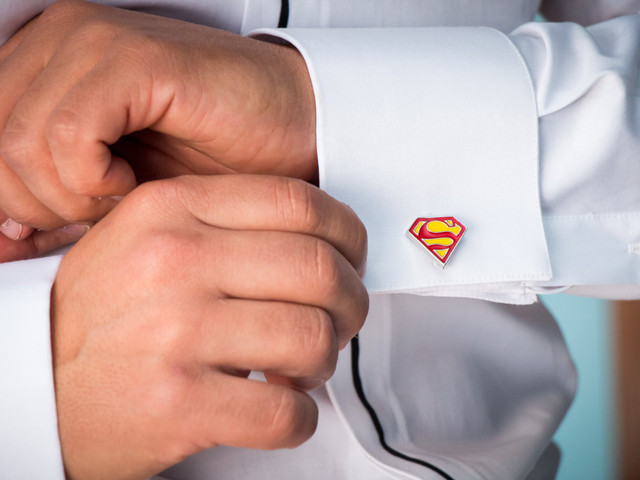 Botões de punho originais para o noivo
