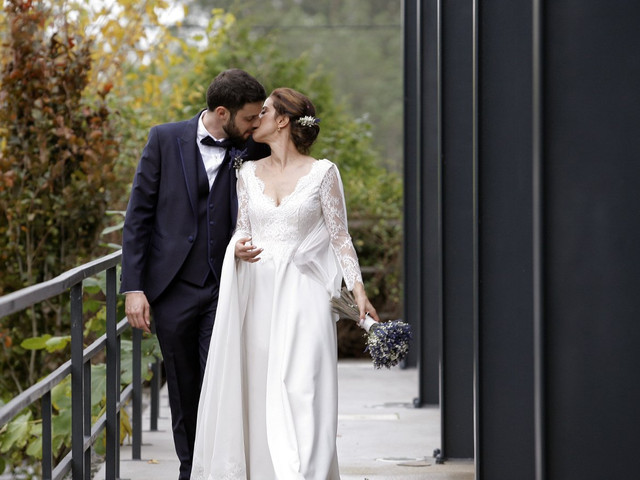 Os beijos dos noivos