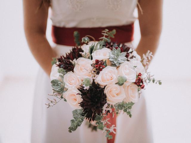 Bouquets de noiva com um toque natalício