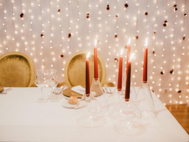 Centros de mesa com velas para o vosso casamento