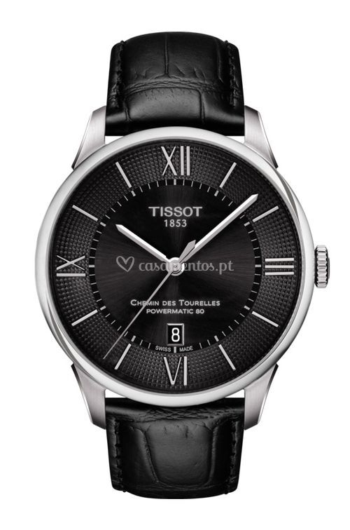 CHEMIN DES TOURELLES POWERMATIC 80  black, Tissot
