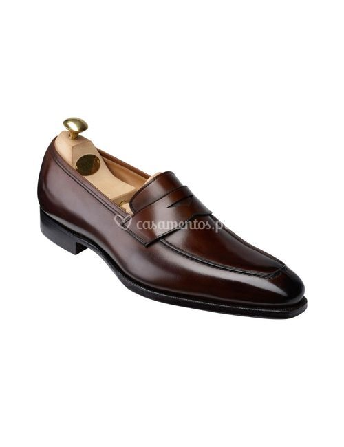 Bury II Dark Brown Antique Calf, Crockett & Jones