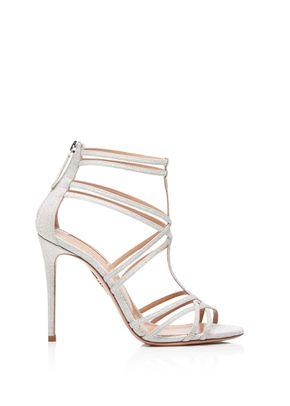 Princess Sandal 105 silver, Aquazzura