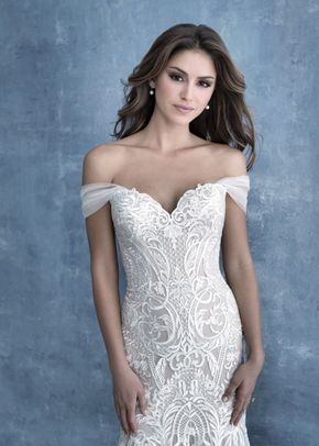 CP43 cap sleeves, Allure Bridals