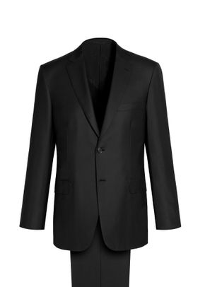 BLACK BRUNICO SUIT, Brioni