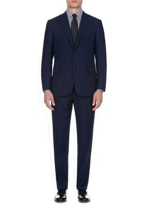Navy Blue Herringbone, Brioni