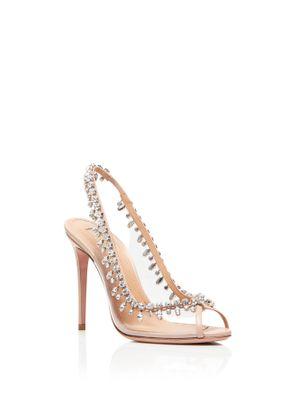 Heels Temptation crystal sandal 105, Aquazzura