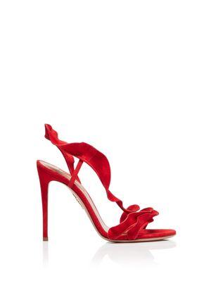 Ruffle Sandal 105, Aquazzura