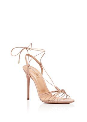 Whisper Sandal 105 powder pink, Aquazzura