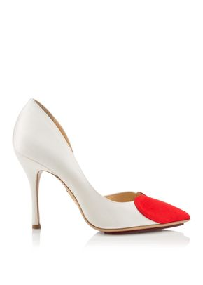 BETHANY WHITE AND RED, Charlotte Olympia