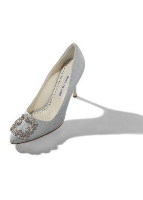 HANGISI NOTTURNO BRIDE silver, Manolo Blahnik