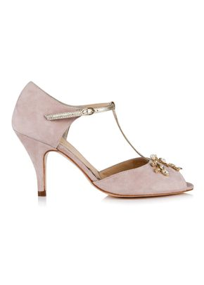 Amalia Powder Pink Suede, Rachel Simpson Shoes