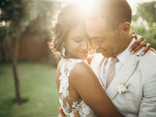 O casamento de Justine e Pedro