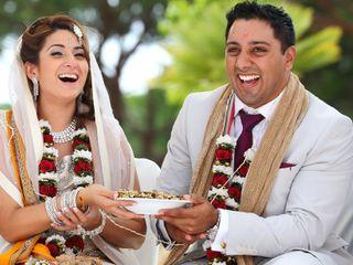 O casamento de Kavita e Roland