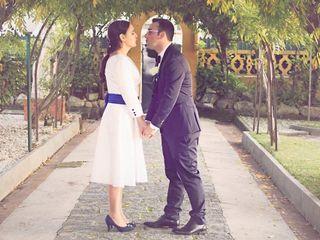 O casamento de Bernardete e André
