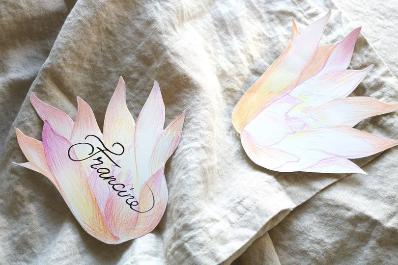 Cartões de mesa de convidados
