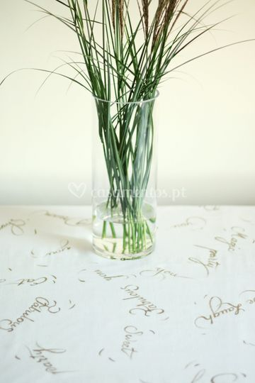 Toalha de mesa-caligrafia