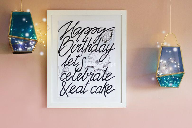 Cartaz de aniversário