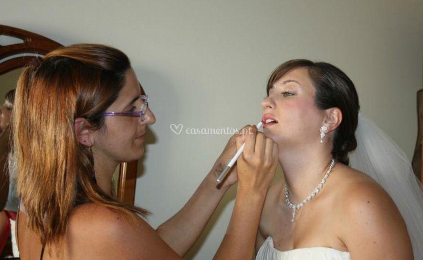 Maquilhagem da noiva