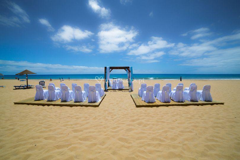 Casamento na praia de Vila Baleira Porto Santo - Wellness Resort & Thalasso Spa
