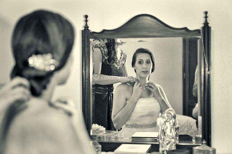 Preparativos com a noiva