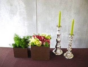 Velas e flores