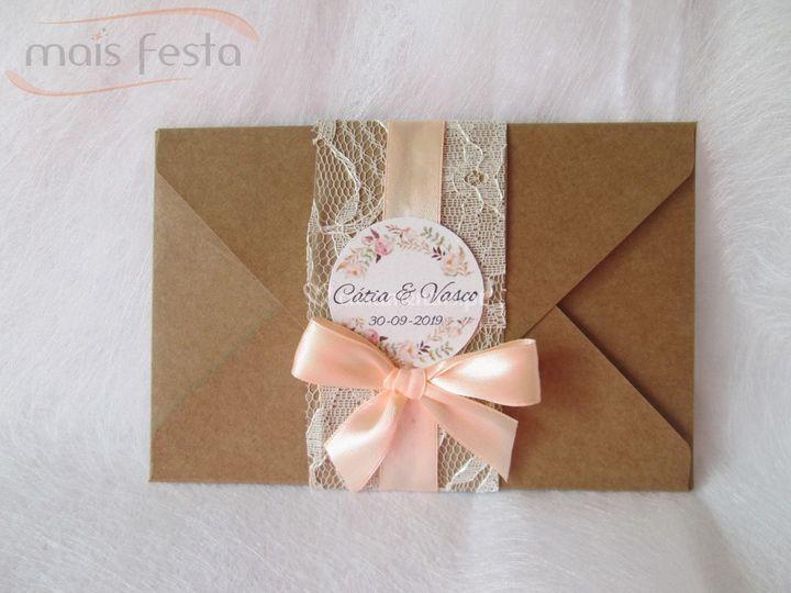 Convite floral rústico