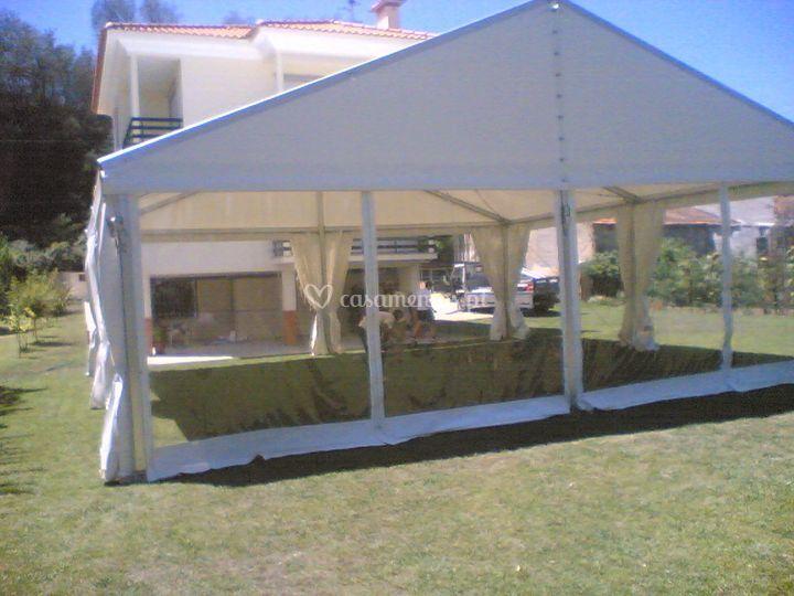 Tendas laterais transparentes