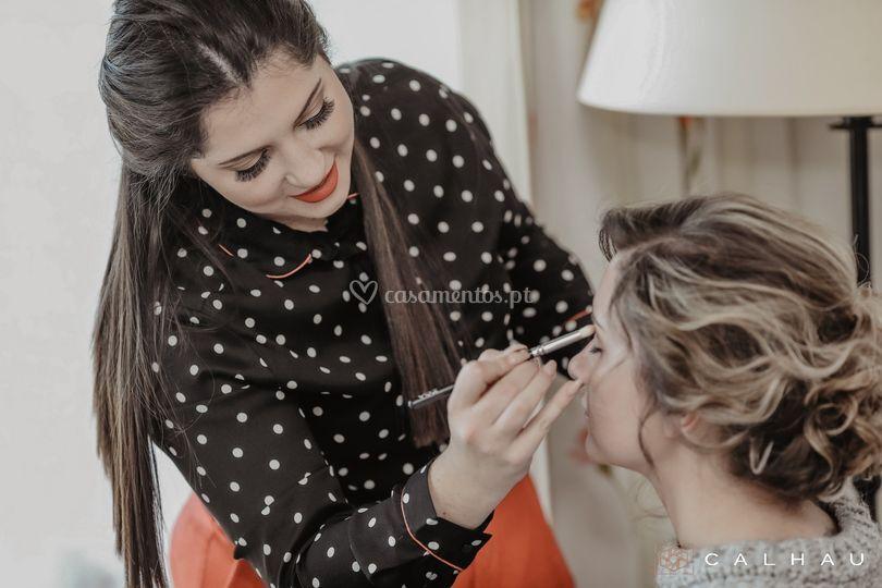 Eu a Maquilhar uma noiva
