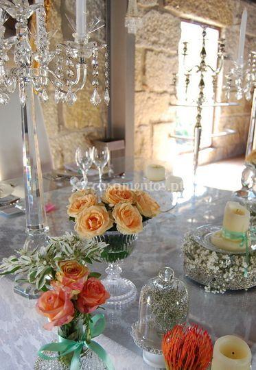 Pormenores Mesa noivos