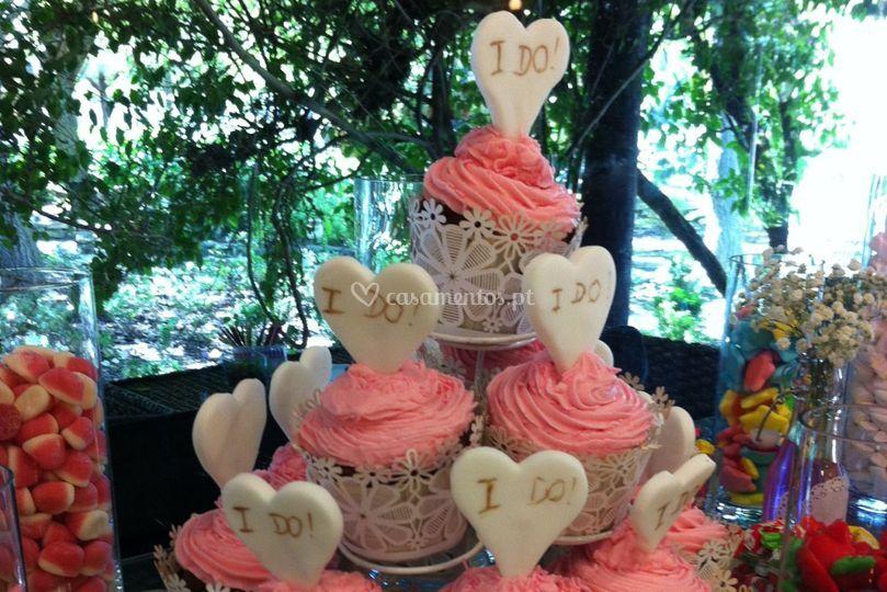 Candy buffet e cupcakes