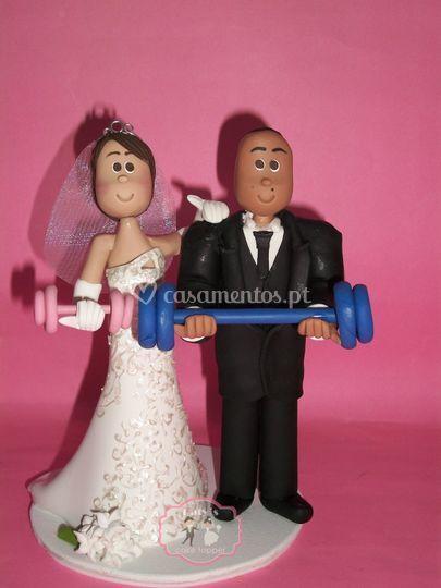 Casal fazendo ginástica