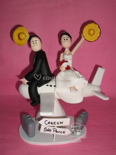 Casal no avião