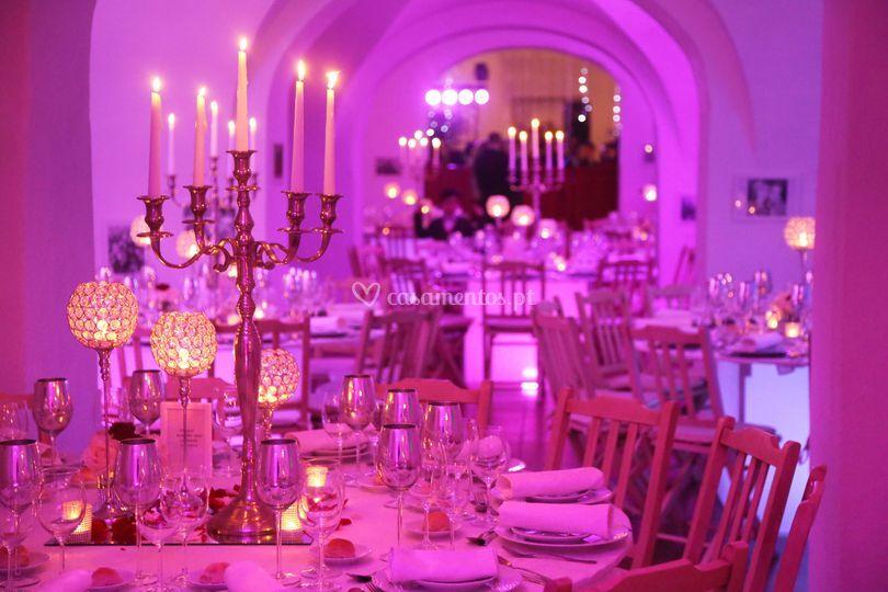 Casamento com luzes led