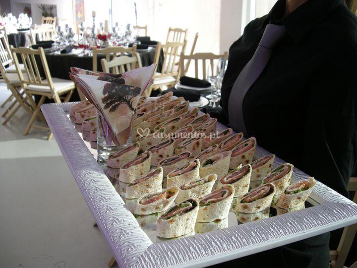 Wraps de salmão de Tempero de Alegria - Catering