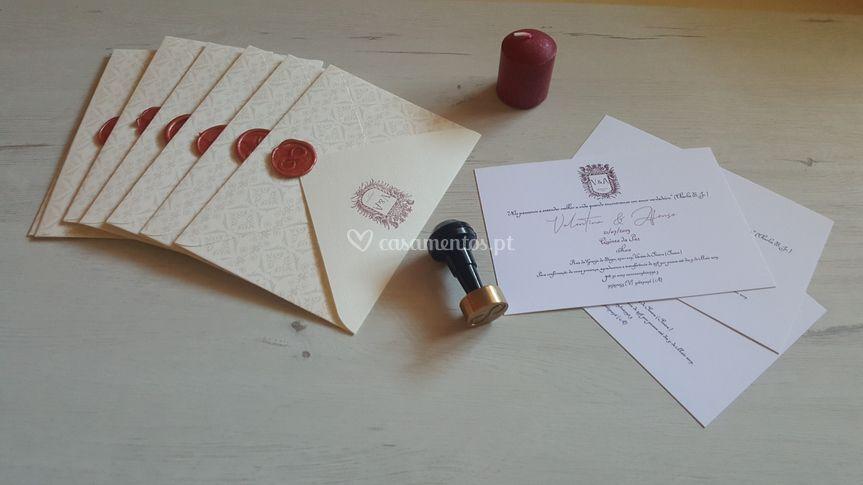 Exemplo convite + envelope