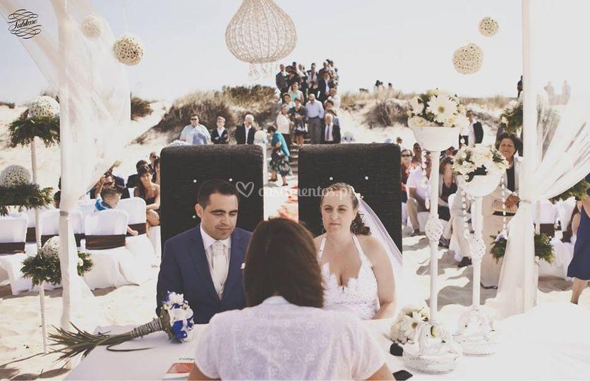 Cerimónia na praia
