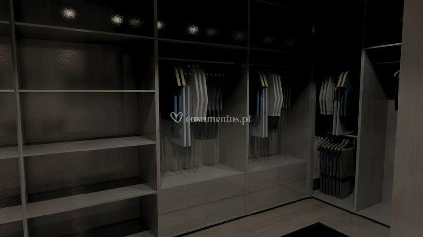 Projeto 3 D quarto de vestir