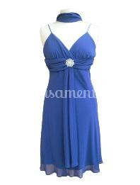 Vestido cerimónia 1835 azul