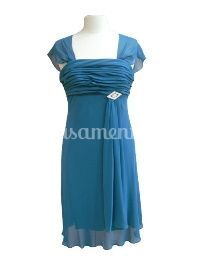 Vestido cerimónia 2213 teal