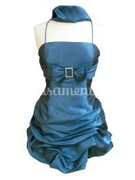Vestido cerimónia 23.8630 azul
