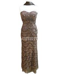 Vestido cerimónia 08.540 castanho de Modas Veiga