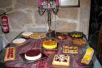 Mesa dos doces sabores de Quinta do Ribeiro
