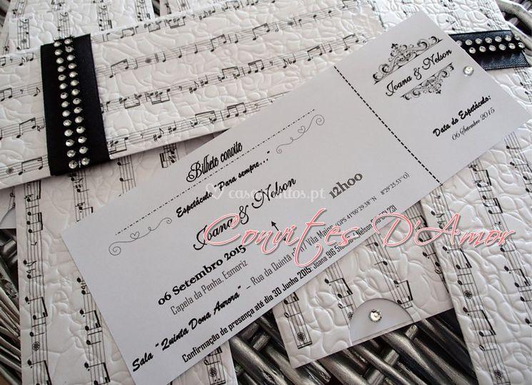 """Pormenor """"Bilhete Concerto"""""""