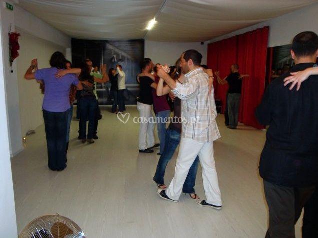 A dança de casais